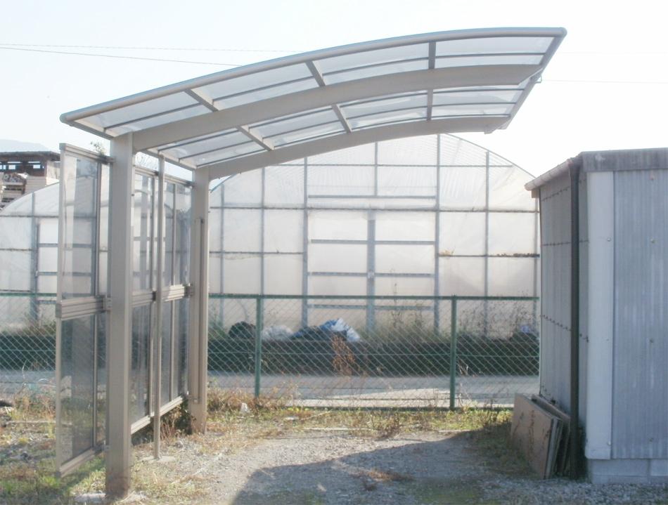 1台用カーポート「ラブポート」ポリカ屋根材付