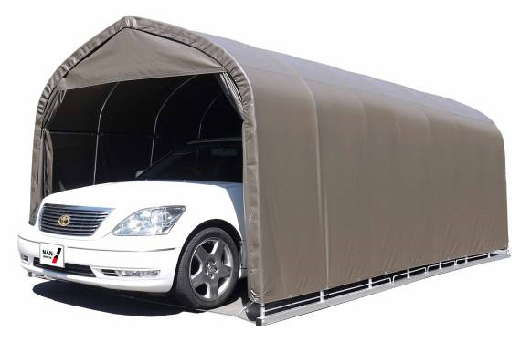 セダン用 パイプ車庫 埋込み式車庫 幅3.0m×奥行5.6m×高さ2.4m