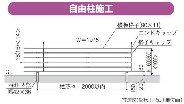YKKルシアス フェンスシリーズ「H07型」