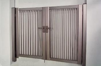 門扉「縦格子セットSH1型両開き」