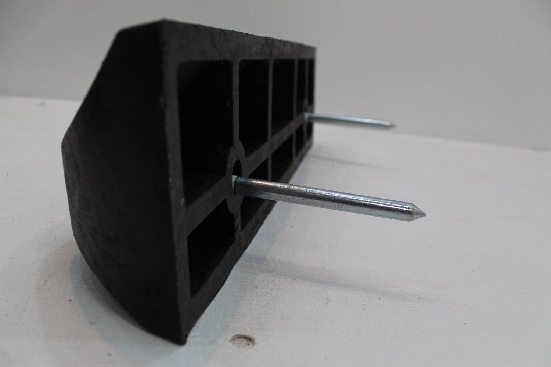樹脂製車止めブロック幅500黒2本セット