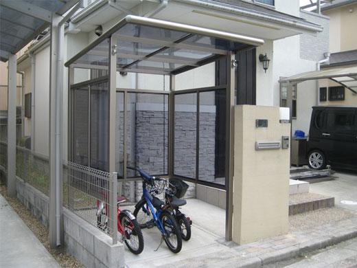 自転車置場「サイクルポート2」ポリカ材付