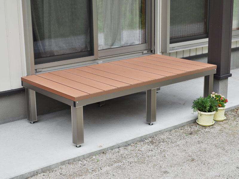DIYアルミ製樹脂デッキ(樹脂製縁台)
