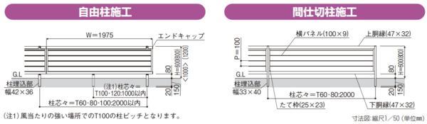 YKKルシアス フェンスシリーズ「F02型」