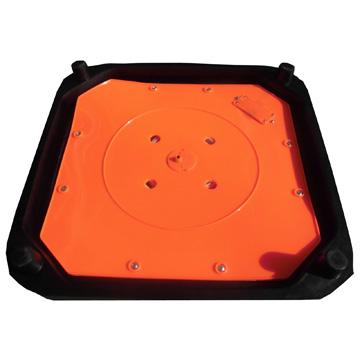 折り畳み伸縮式カラーコーンLED内蔵 ベースタイプ