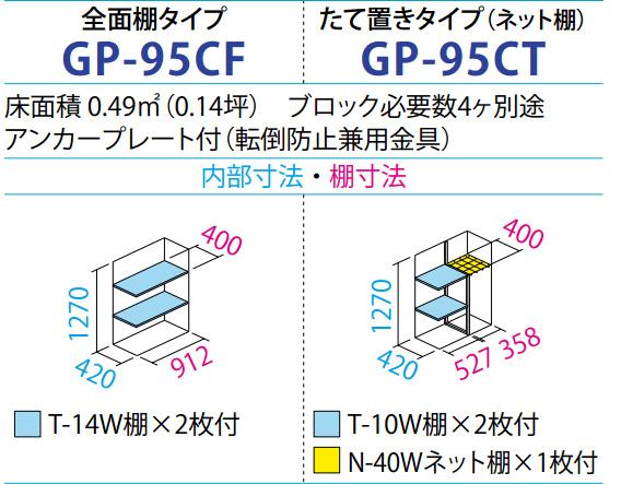 タクボ物置GP-95C(間口920mm×奥行530mm×高さ1400mm)