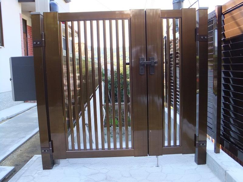 門扉「縦格子セット2型親子扉」