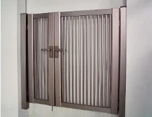 門扉「縦格子セットSH1型親子扉」