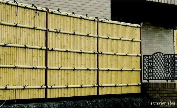 人工竹垣 組立セット「建仁寺垣A型(柱見せタイプ)片面 柱見せタイプ」