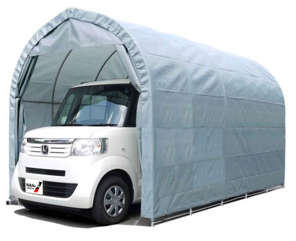 パイプ車庫 張替シート3幕セット 2540U・2540B共通 軽自動車用 間口2.5m×奥行4m×高さ2.4m