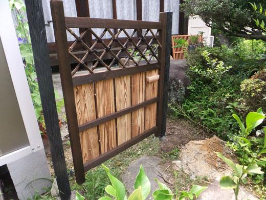 天然竹庭木戸「庭木戸355」