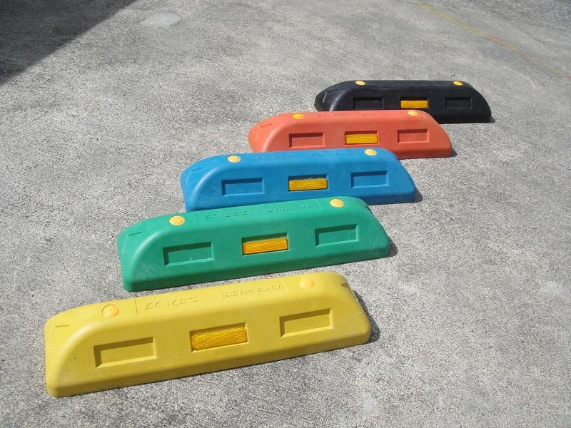 樹脂製カラー車止めブロックH100 2本セット