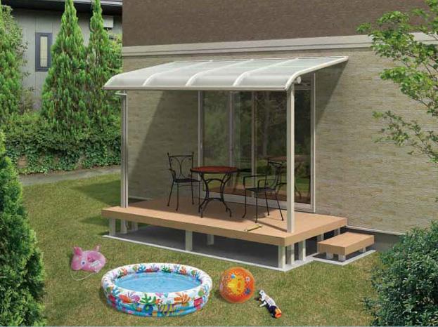 R屋根タイプ 「オリジナルテラス」1階用 移動桁仕様 ポリカ屋根材付