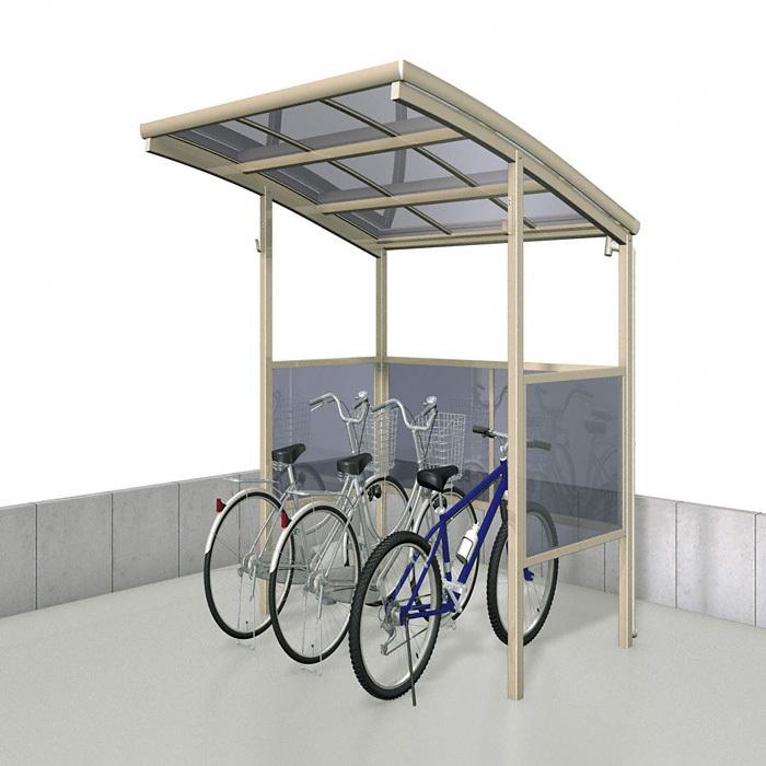 ポリカ自転車置場 パネル囲い付き パネル奥行1400タイプ