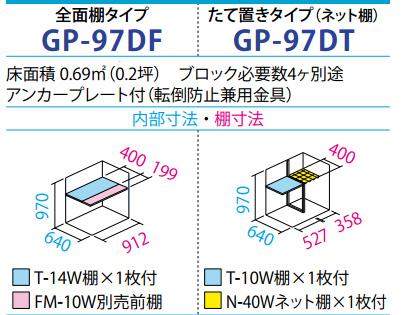 タクボ物置GP-97D(間口920mm×奥行750mm×高さ1100mm)