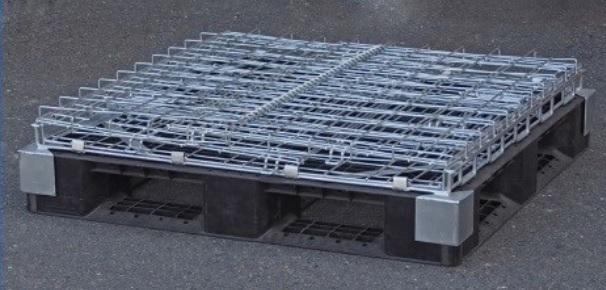 折り畳み式土のうストッカー【樹脂パレット付き】