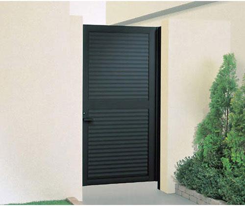 目隠し門扉 片開き 外開き様 門柱タイプ 高さ1800、2000mm