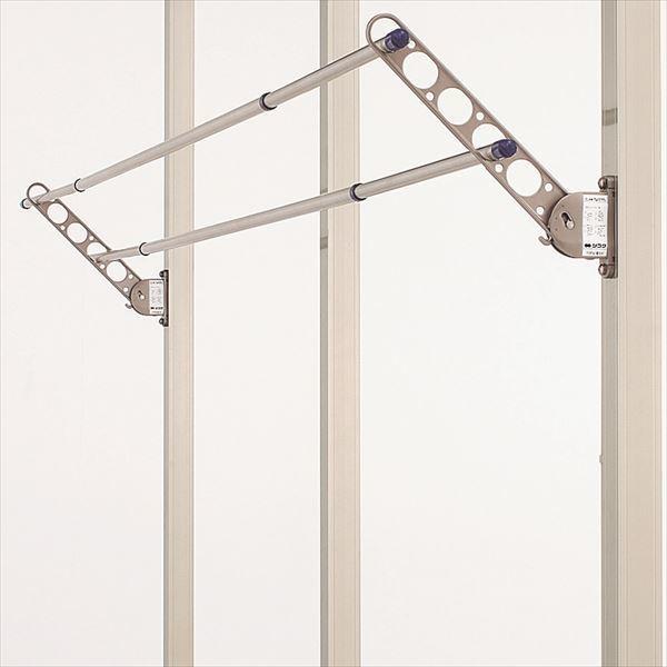 アルミ製竿掛け 柱取付式 収納タイプ 2本1セット