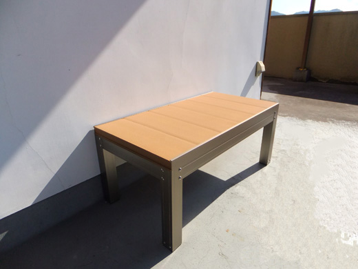 DIYミニ樹脂デッキ(樹脂製縁台)