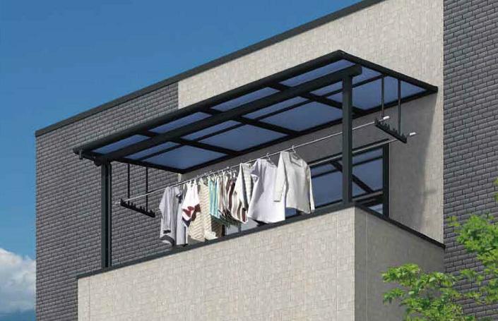 フラット屋根タイプ 「オリジナルテラス」2階用 移動桁仕様 ポリカ屋根材付
