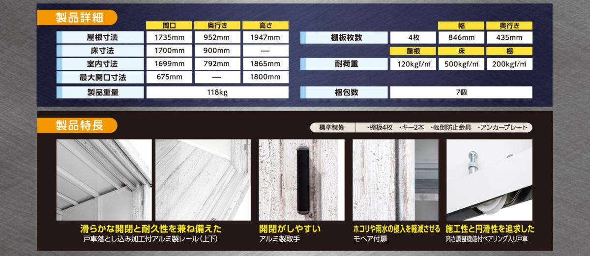 【期間限定特価】サンキン物置ピアレス (間口1700mm×奥行900mm×高さ1947mm)ダークウッド色