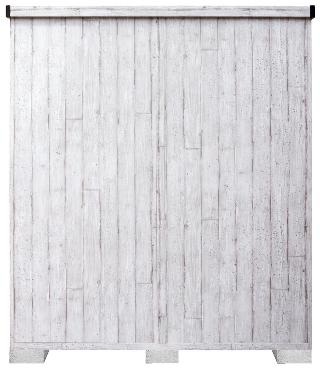 サンキン物置ピアレス (間口1700mm×奥行900mm×高さ1947mm)ホワイトウッド色