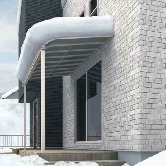 格安・激安R屋根タイプオリジナルテラス積雪50cm対応