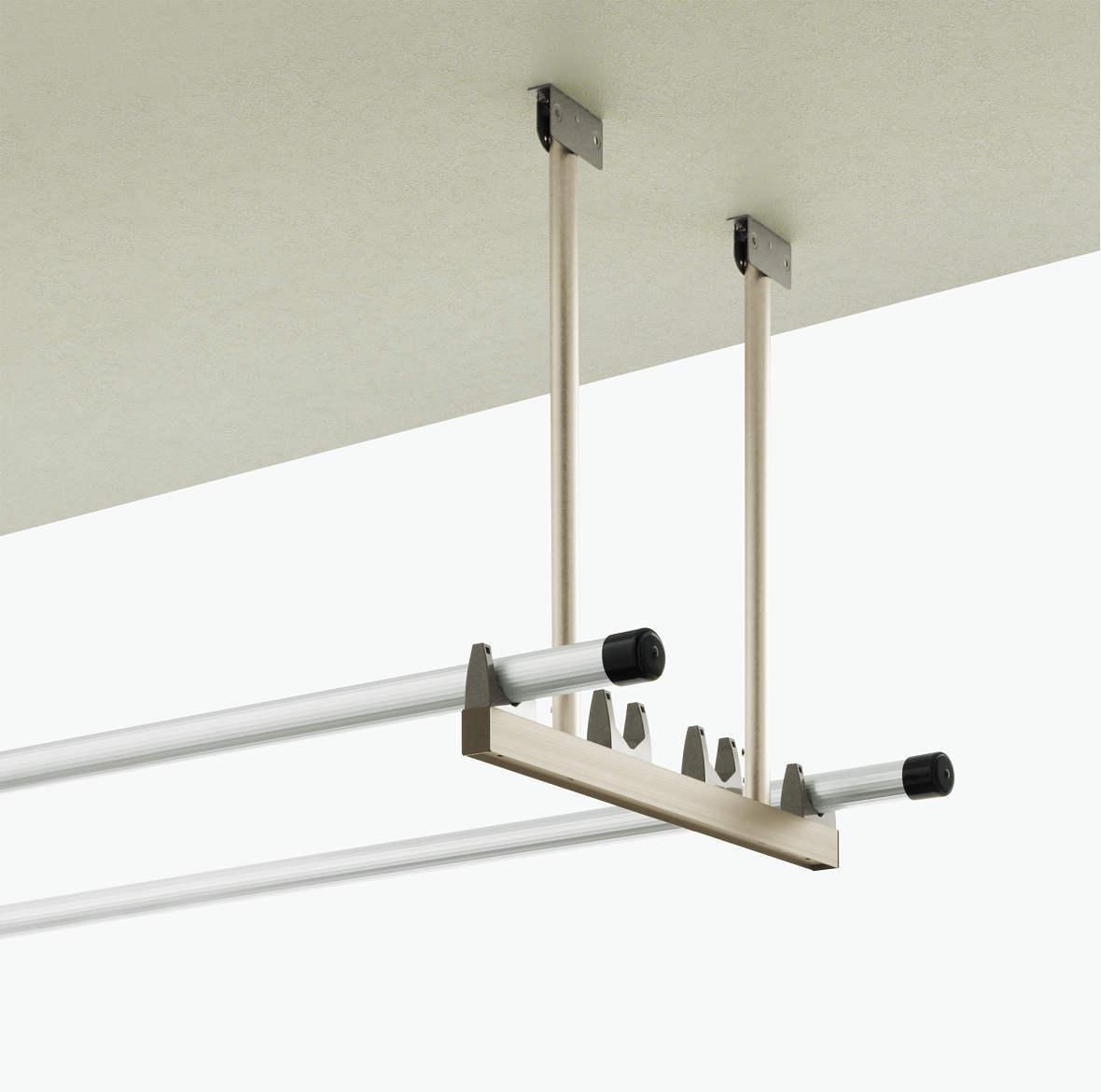 アルミ製吊り下げ式固定物干し2本1組 ロングタイプ