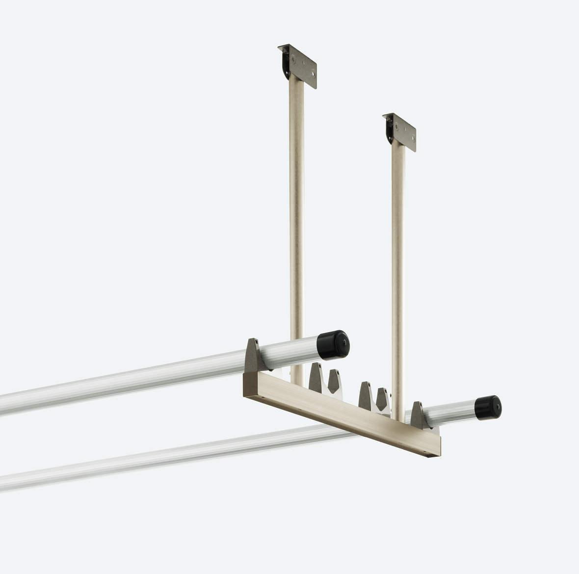 アルミ製吊り下げ式固定物干し2本1組 標準タイプ