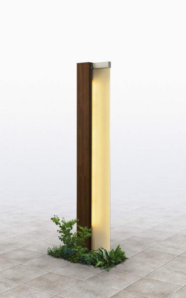 YKKルシアス機能門柱 サインポールシリーズ「A01型」照明付きタイプ