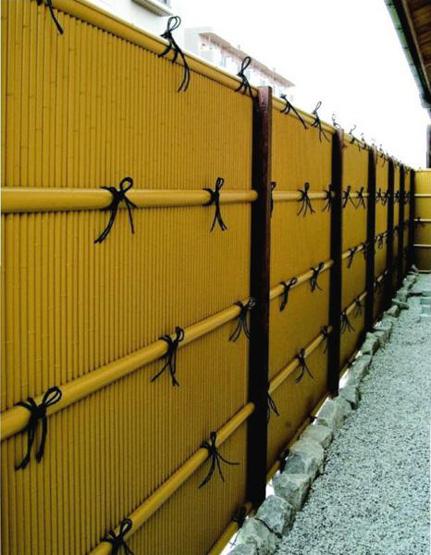 人工竹垣組立てセット「縦みす垣P型」