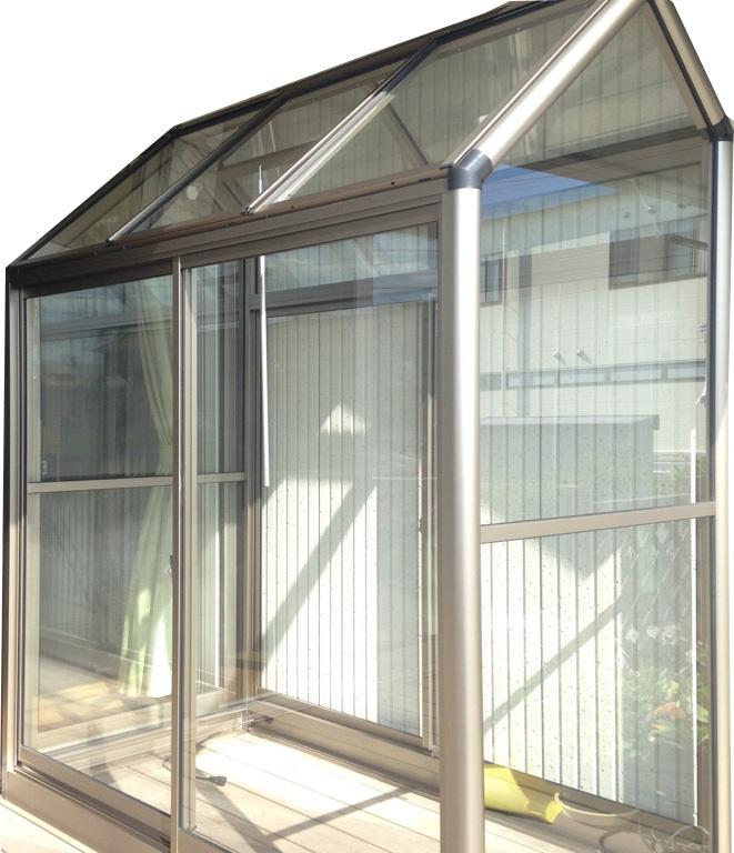 アルミ製ガラス温室 ガラス付き B-1型:CYP-B1G