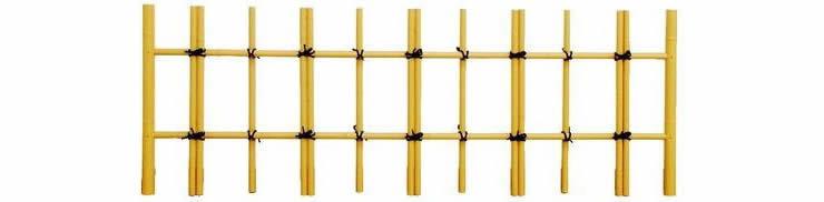 人工竹垣組立てセット「建仁寺垣A型+四ツ目垣」柱見せ 片面