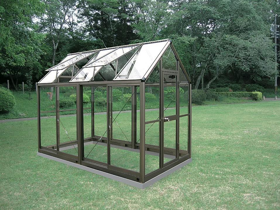 アルミ製ガラス温室 ガラス付き B-15型CYP-B15G