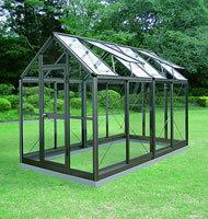アルミ製ガラス温室 ガラス付き B-2型 CYP-B2G