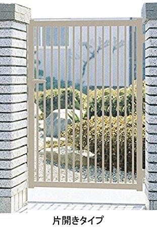 縦格子門扉 片開き門柱タイプ