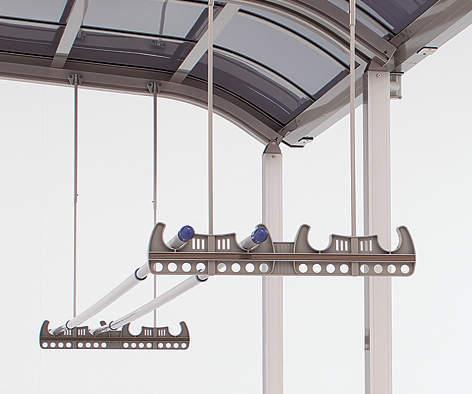 竿掛け 吊り下げ式 2本1セット 標準タイプ