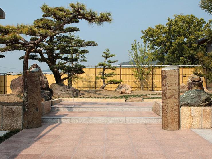 人工竹垣組立てセット「建仁寺垣タイプA型」柱見せ 片面