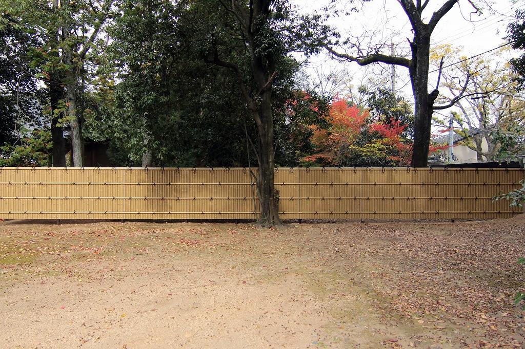 人工竹垣組立てセット「建仁寺垣B型」ゴマ竹 柱見隠し 片面