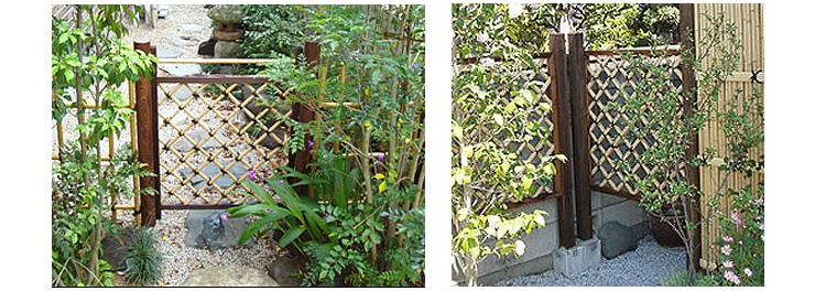 天然竹 木枠枝折戸 白竹入 – きわくしおりど