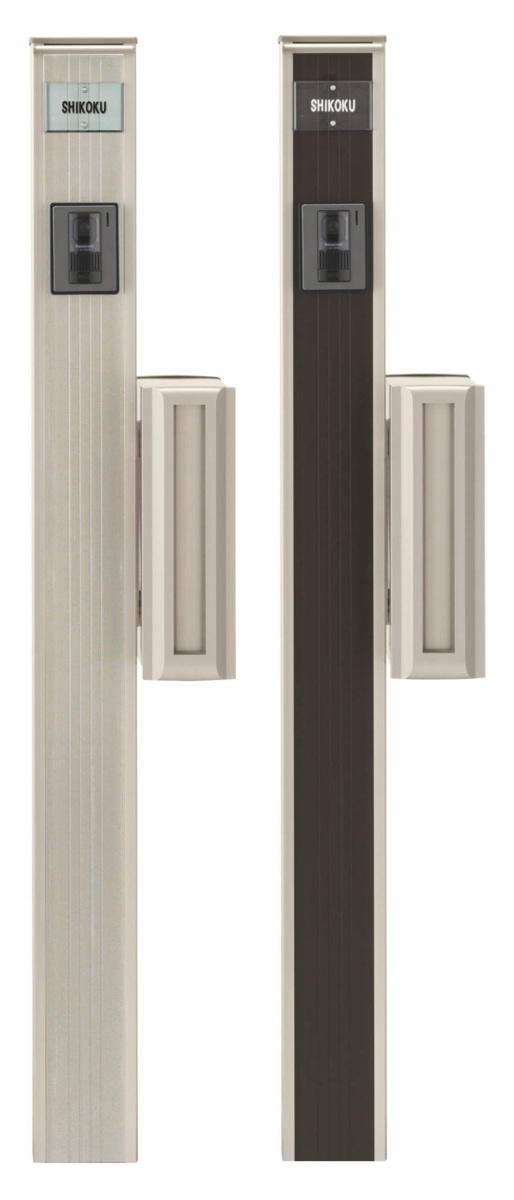 LED照明ポスト表札インターホン穴付き機能門柱