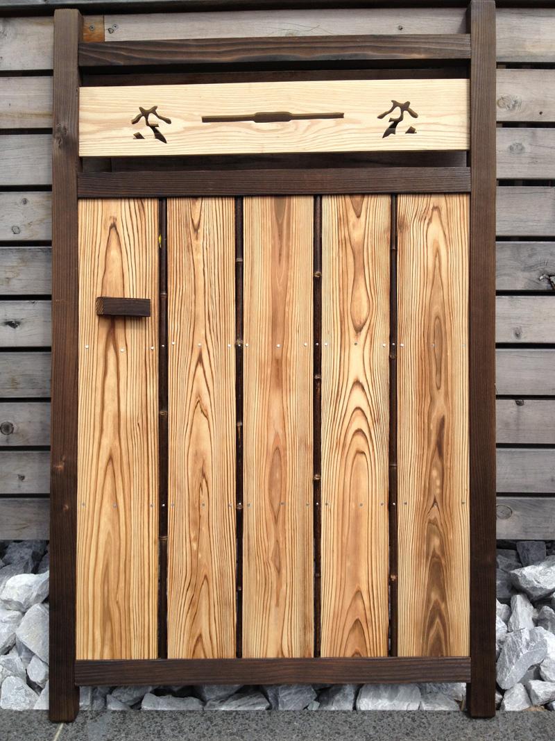 天然竹 板欄間入庭木戸
