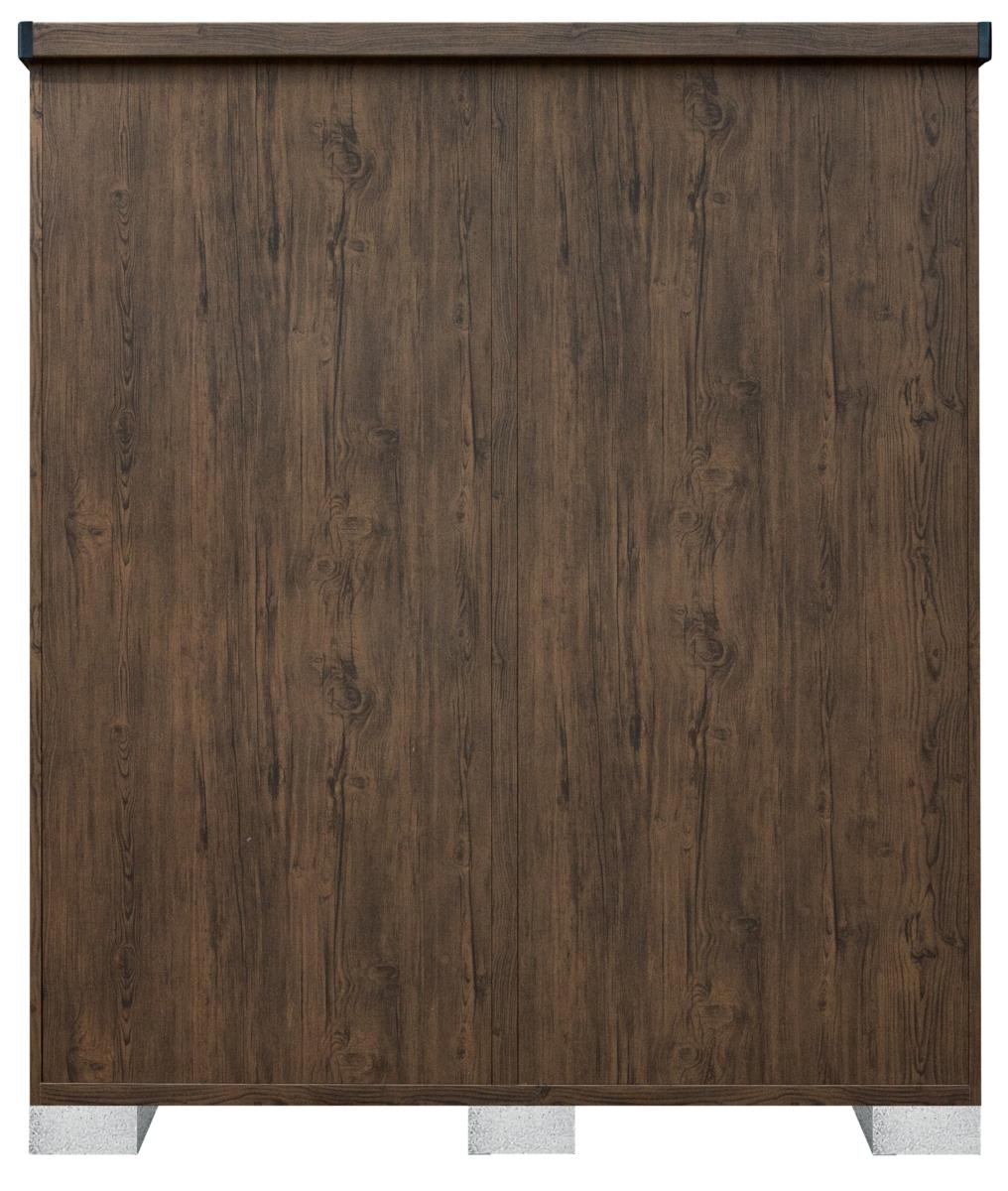 サンキン物置ピアレス (間口1700mm×奥行900mm×高さ1947mm)ダークウッド色