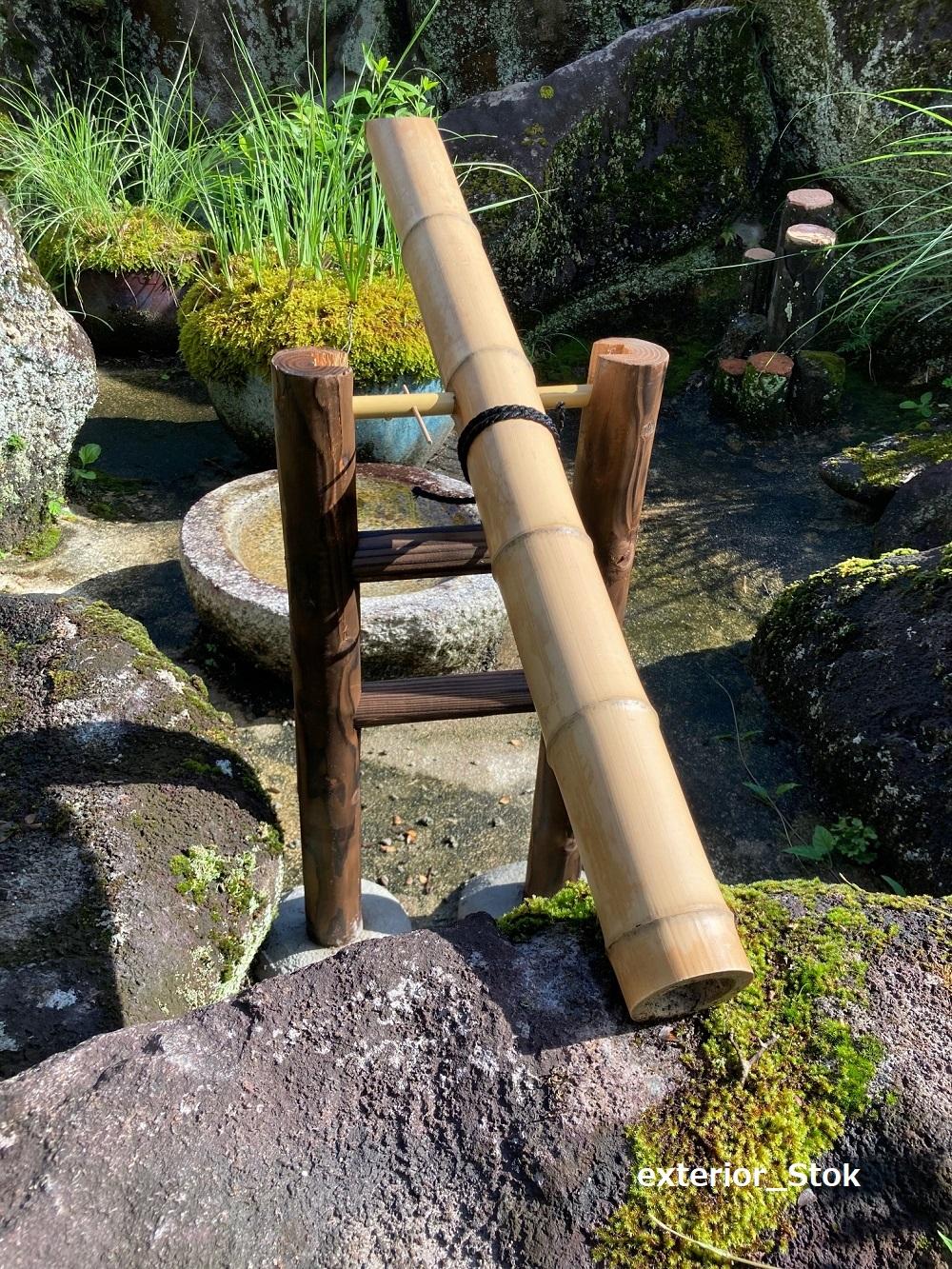 天然竹「ししおどし」外径約7cm×長さ90cm