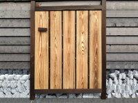 天然竹 総板張庭木戸