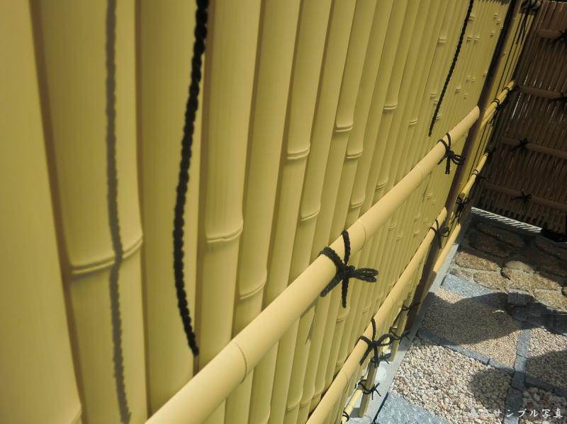 人工竹垣組立てセット 建仁寺垣B型 柱隠しタイプ 片面