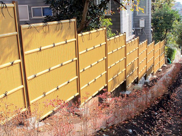GARYU竹垣ユニット「縦みす垣」組立て済みパネルタイプH1800